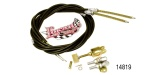 Lokar Chevy Universal Emergency Brake Cable Kit, Rear, Black Housing