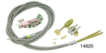 Lokar Chevy Universal Emergency Brake Cable Kit, Rear, Stainless Housing