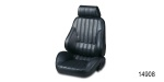 Procar Chevy Rally Series Performance Bucket Seat, Black Vinyl, Driver Side
