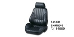 Procar Chevy Rally Series Performance Bucket Seat, Black Vinyl, Passenger Side