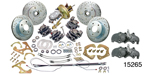 1955-1957 Chevy 4-Wheel Disc Brake Kit, w/ Chrome Booster and Dropped Spindles
