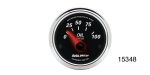 Auto Meter Chevy Designer Black II Oil Pressure Gauge, 2-1/6'', 0-100 psi, Electric