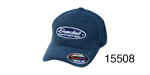 Danchuk Chevy Flex Fit Hat, Navy Blue w/Blue and Silver Shield, Small/Medium