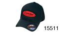 Danchuk Chevy Flex Fit Hat, Black w/Red Shield, Large/XL