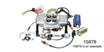 Professional Products Chevy Powerjection™ III Fuel Injecton System, Complete Kit, Polished Finish