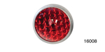 Danchuk Chevy 15/16'' Reflector, Smooth, Red, Pair