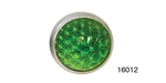 Danchuk Chevy 15/16'' Reflector, Smooth, Green, Pair