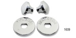 1955-1956 Chevy Polished Billet Aluminum Radio Bezel Knobs Set
