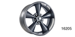 "American Legend Chevy ""Streeter"" Wheel, Grey, 17 x 8 w/ Center Cap and Lug Nuts"