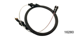 Lokar Chevy Hi-Tech Throttle Cable, LS1 & Ramjet, 36'', Black Stainless Steel Housing, Midnight Series