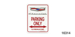 Classic Chevy Parking Sign, Silver Crest ''Chevrolet''