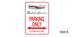 Classic Chevy Parking Sign, Silver Crest ''Bel Air''