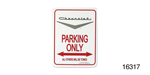 Classic Chevy Parking Sign, Silver Vee ''Chevrolet''