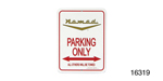 Classic Chevy Parking Sign, Gold Vee ''Nomadt''