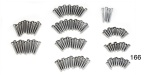 1955-1957 Chevy Interior Trim Screw Set, Sedan Delivery