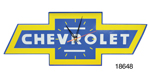 Chevy Bowtie Shaped Steel Wall Clock w/ Chevrolet Logo