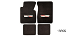 1955-1957 Chevy Floor Mats w/ Embroidered Crest Logo, Black Loop, Set