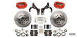 Wilwood 1955-1957 Chevy Classic Series Dynalite Front Brake Kit, 11.5'' Caliper, OE Spindles, Red Caliper