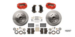Wilwood 1955-1957 Chevy Classic Series Dynalite Front Brake Kit, 11.5'' Caliper, CPP Drop Spindles, Red Caliper