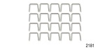 Danchuk 1955-1956 Chevy Stainless A-Arm Dust Shield Staples, Bulk Package