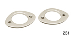 Danchuk 1955-1957 Chevy License Lens Bezels, Nomad & Wagon, Pair