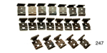 Danchuk 1955-1957 Chevy Rear Window Moulding Clips