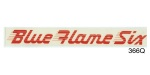 1953-1955 Chevy ''Blue Flame Six'' Valve Cover Decal