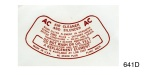 1955-1957 Chevy Air Cleaner Decal