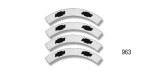 Danchuk 1955 Chevy Bel Air Hubcap Decals, White