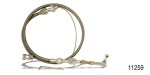 Lokar Chevy Hi-Tech Tuned-Port Throttle Cable, Stainless Steel Housing
