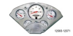 Auto Meter 1955-1956 Chevy 5 Gauge Set w/ Billet Gauge Panel, Arctic White