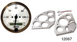 Auto Meter 1955-1956 Chevy 5 Gauge Set w/ Billet Gauge Panel, American Platinum