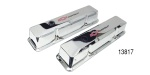 Pro Form Small Block Chevy Aluminum Valve Covers, Chromed, Tall w/ Baffles