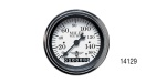 Stewart Warner Chevy Wings Series Electric Speedometer, White, 3-3/8""