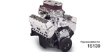 Edelbrock Chevy Performer Hi-Torq Dual-Quad 9.0:1 350 Engine, 363hp/405 Torque, EnduraShine
