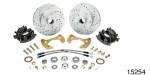 1955-1957 Chevy Minimum Offset Disc Brake Kit, Stock Spindles