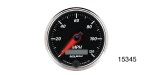 "Auto Meter Chevy Designer Black II Electric Programmable Speedometer, 3-3/8"", 120mph"