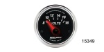 "Auto Meter Chevy Designer Black II Voltmeter, 2-1/6"", 8-18 Volts, Electric"