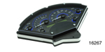 Dakota Digital 1955-1956 Chevy VHX Series Digital Instrument Set, Carbon Fiber, Blue Display