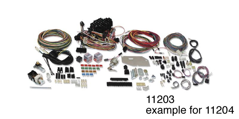 american autowire 1957 chevy classic update complete wire harness kit rh danchuk com