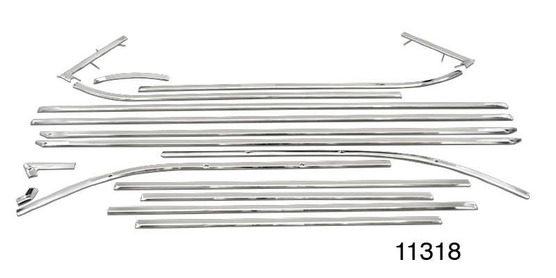 1955 Chevy Stainless Steel Interior Door Panel Trim Kit Nomad