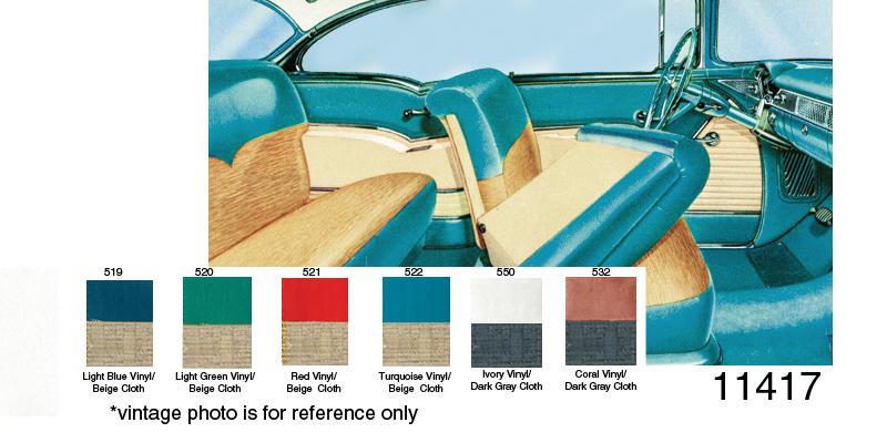 1955 Chevy Door Panel Set Bel Air 2 Door Hardtop Beige
