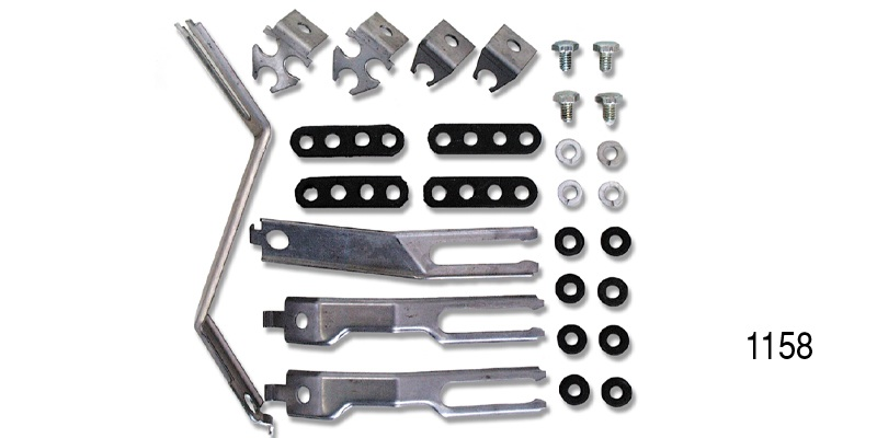 1955 chevy spark plug wire support brackets and hardware