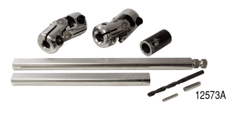 Unisteer 1955-1957 Chevy Rack and Pinion Power Steering Column U-Joint Kit,  Ididit Column w/ Spline Shaft
