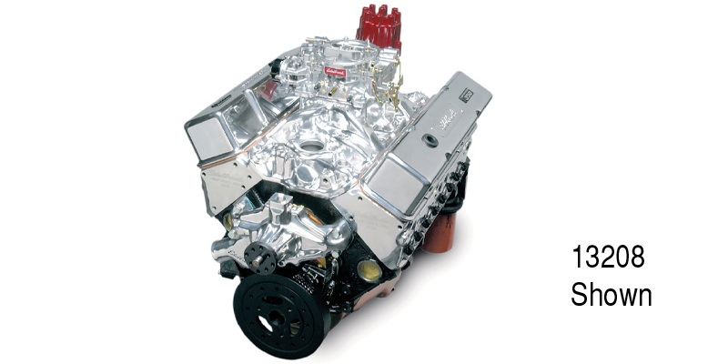 Edelbrock Chevy Performer RPM 9 5:1 350 Engine, 410hp/408 Torque, Polished
