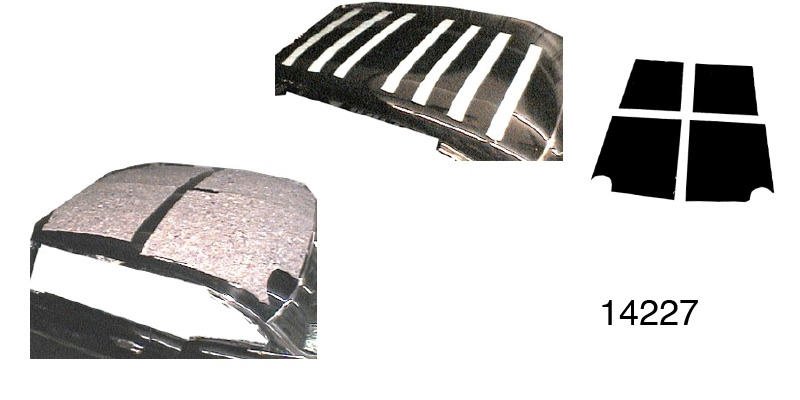 Acoustishield 1955 1957 Chevy Roof Insulation Kit Hardtop