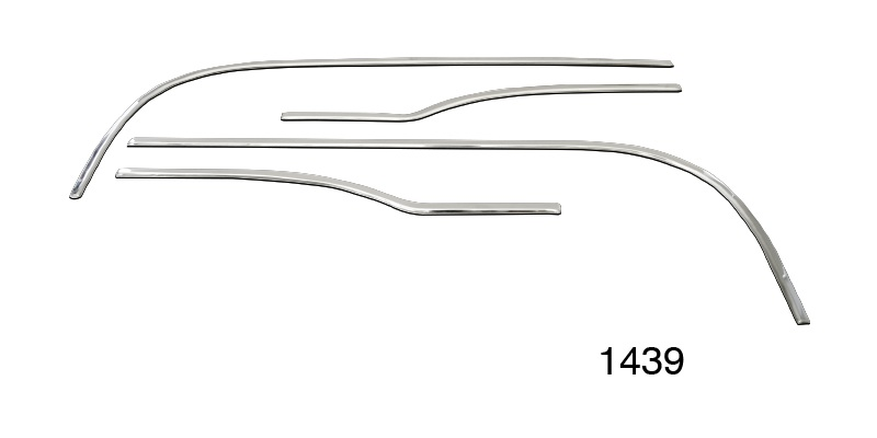 1957 chevy stainless steel interior door panel trim kit