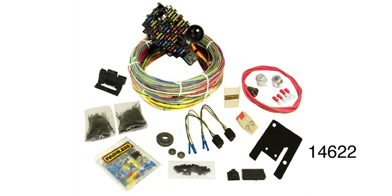 14622_l painless® performance 1955 1957 chevy wire harness kit, 28 circuit