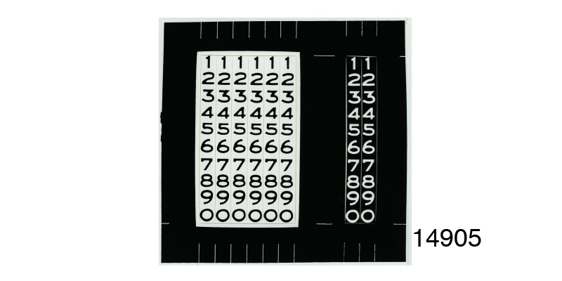 1955 1957 Chevy Odometer Number Decals White W Black Numbers