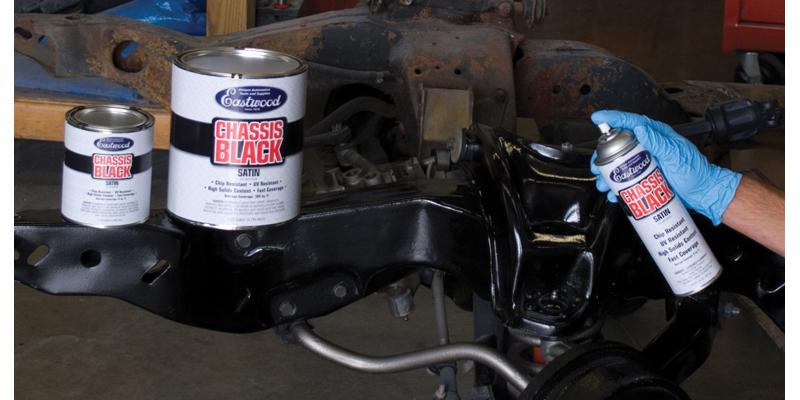 Eastwood Chevy Black Satin Chassis Paint Quart
